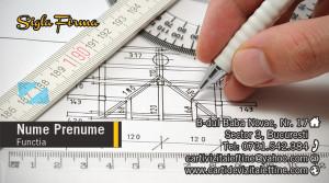 Carti de vizita arhitect, constructii, proiectant - Cod-Constr-22