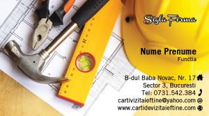 Carti de vizita constructii - Cod-Constr-25