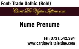 Carti-vizita-Font Trade Gothic Bold