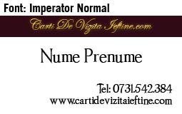 Carti-vizita-font-Imperator Normal