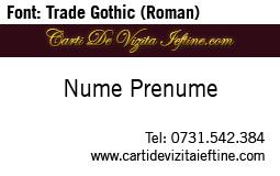 Carti-vizita-font trade gothic roman