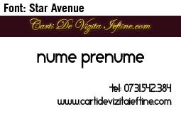 Carti-vizita-font-Star Avenue