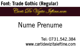 Carti-vizita-font-Trade Gothic Regular