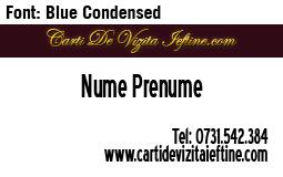 Carti-vizita-font-Blue Condensed