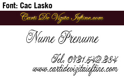 Scris de mana - Font Cac Lasko