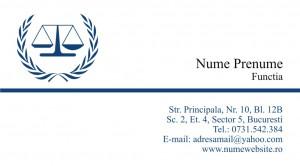 Carti de vizita avocat - Cod Avo1