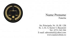 Carti de vizita avocat - Cod Avo3