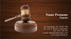 Carti de vizita cabinet avocatura - Cod Avo6