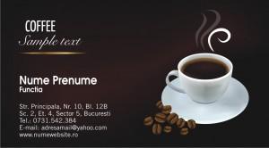 Carti de vizita cafea - Cod Cafea01