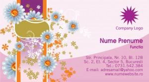 Carti de vizita - Cod Flor04
