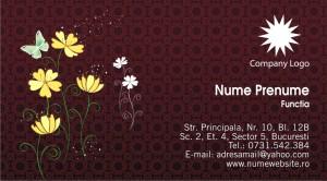 Carti de vizita - Cod Flor10