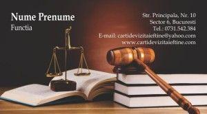 carti de vizita avocat Cod Avo27