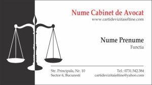 carti de vizita avocat Cod Avo33