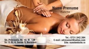 Carti de vizita masaj terapeutic