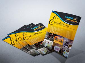 Flyere 210 x 100 mm printate digital sau offset