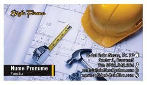 Carti de vizita constructii, inginer, arhitect