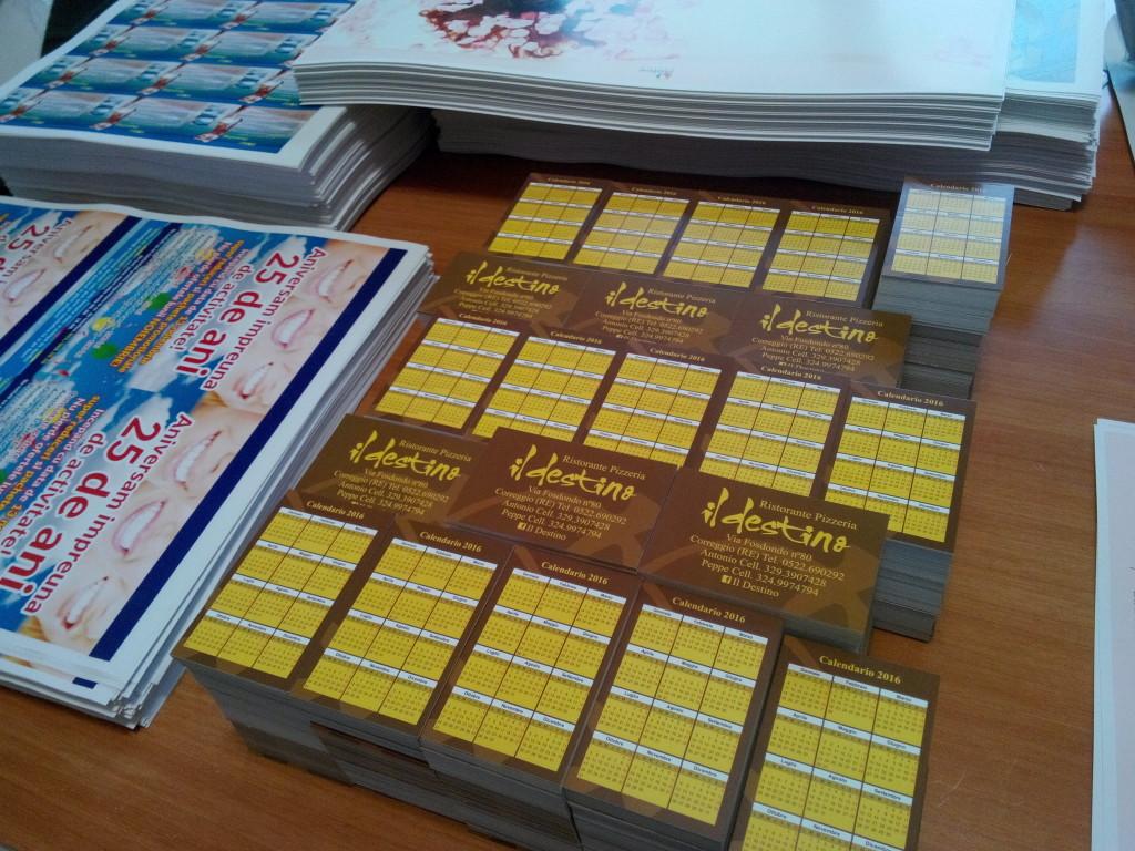 carti de vizita cu calendar