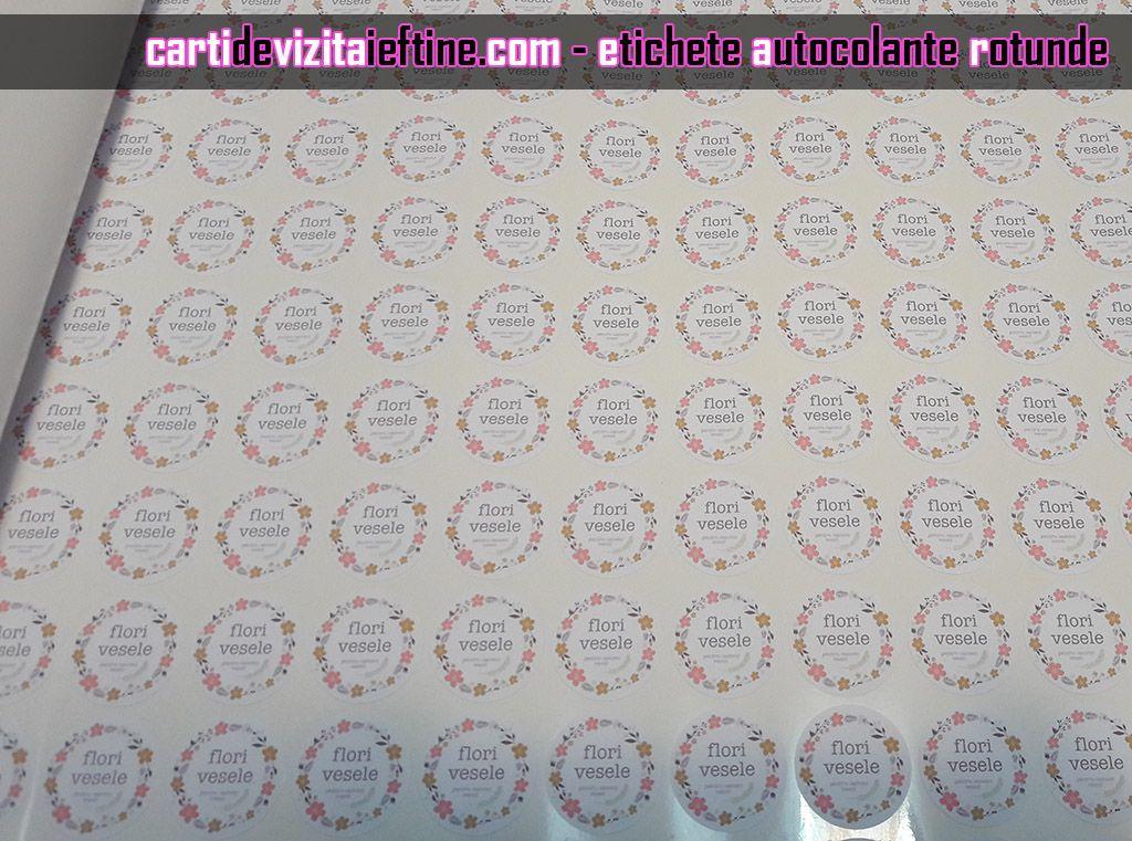 etichete autocolante rotunde autoadezive ovale