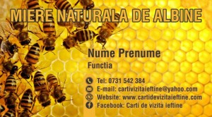 Carti de vizita apicultura  Cod API 03