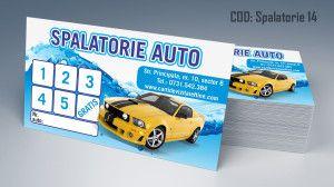 Carti de vizita Spalatorie Auto Curatatorie Polish 14