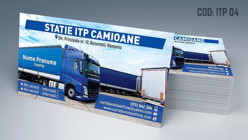 Carti de vizita ITP, inspectie auto periodica Cod ITP 4