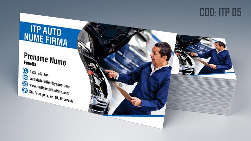 Carti de vizita ITP, inspectie auto periodica Cod ITP 5