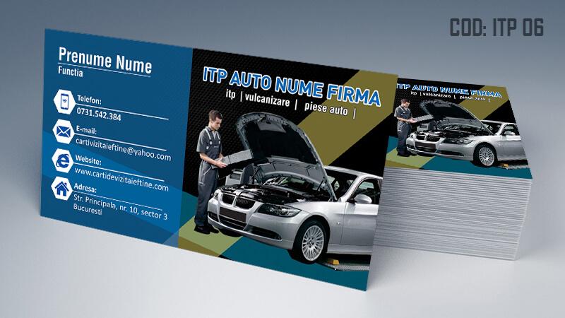 Carti de vizita ITP, inspectie auto periodica Cod ITP 6