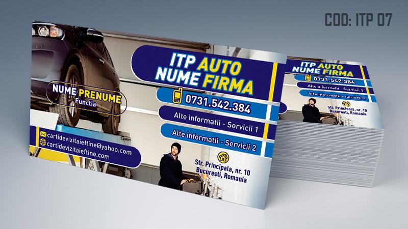 Carti de vizita ITP, inspectie auto periodica Cod ITP 7
