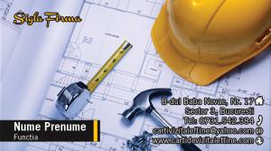 Carti de vizita arhitect, constructii, proiectant - Cod-Constr-21