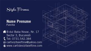 Carti de vizita arhitect, proiectant - Cod-Constr-27