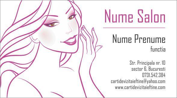 Coafor Cosmetica Cosmeticiana Carti De Vizita Cel Mai Mic