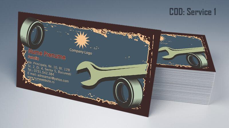 Carti de vizita service auto model cod 1 CDVi
