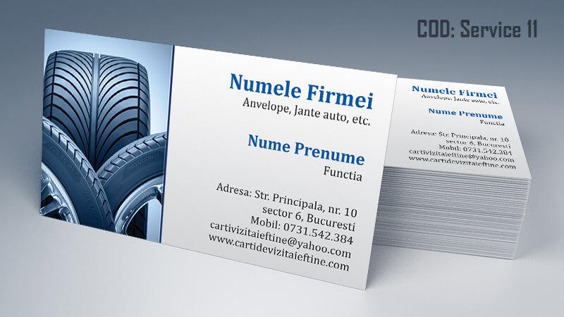 Carti de vizita service auto model cod 11 CDVi