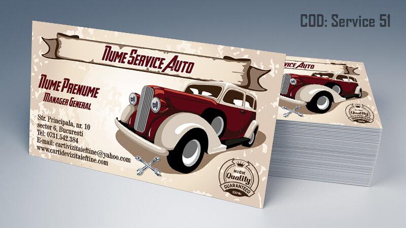 Carti de vizita service auto model cod 51 CDVi