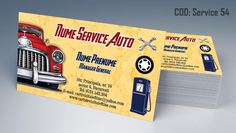 Carti de vizita service auto model cod 54 CDVi