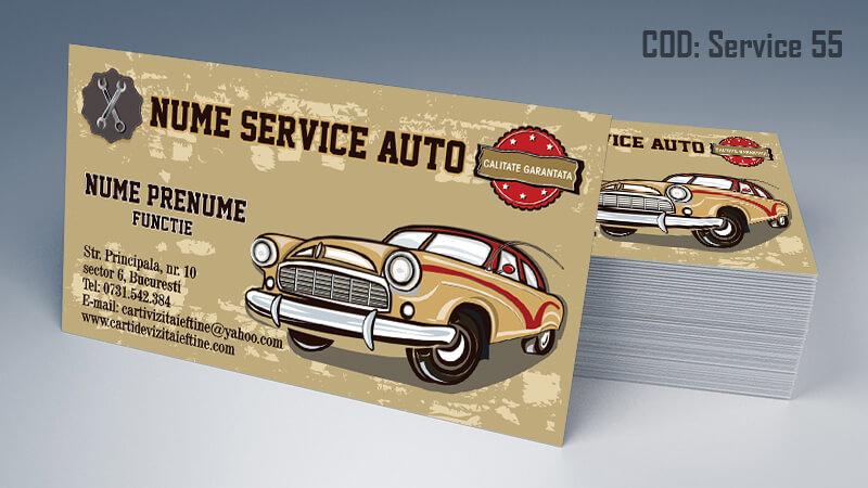 Carti de vizita service auto model cod 55 CDVi