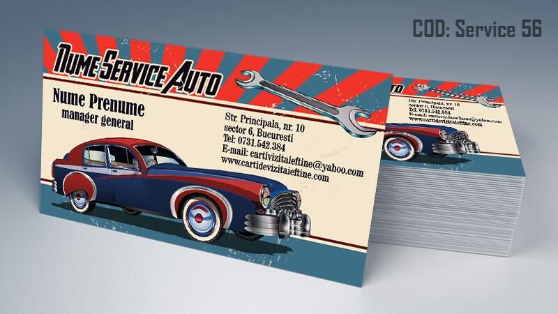 Carti de vizita service auto model cod 56 CDVi