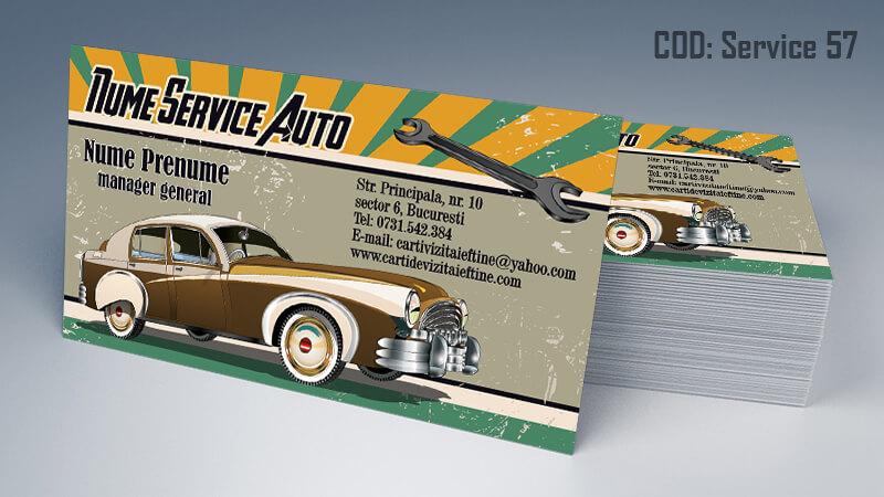 Carti de vizita service auto model cod 57 CDVi