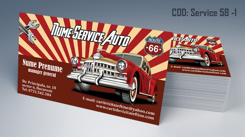 Carti de vizita service auto model cod 58-1 CDVi