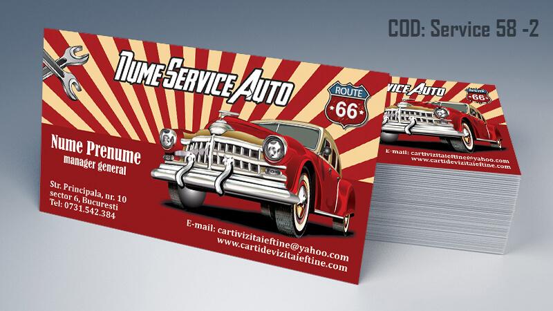 Carti de vizita service auto model cod 58-2 CDVi