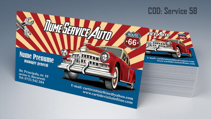 Carti de vizita service auto model cod 58 CDVi
