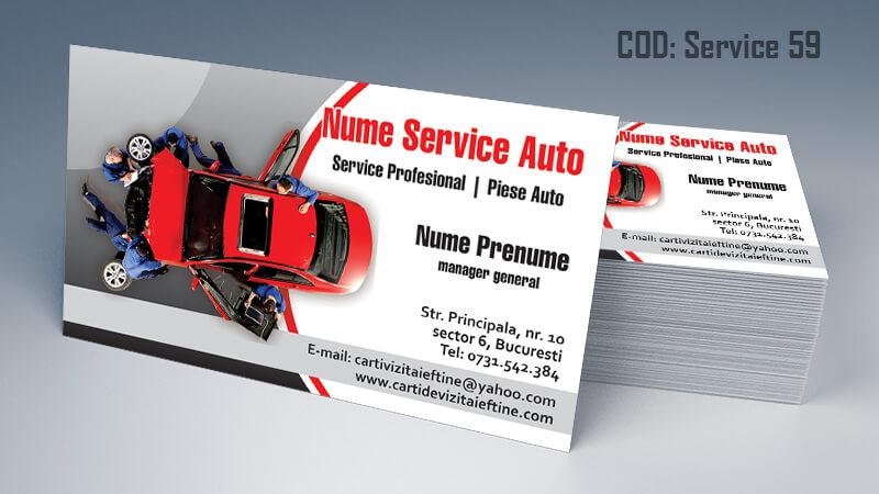 Carti de vizita service auto model cod 59 CDVi