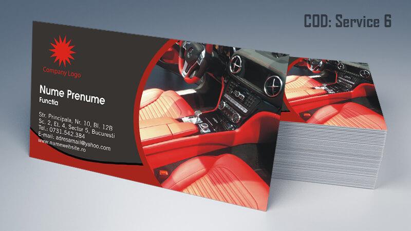 Carti de vizita service auto model cod 6 CDVi