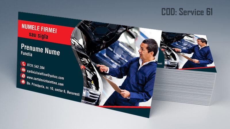 Carti de vizita service auto model cod 61 CDVi