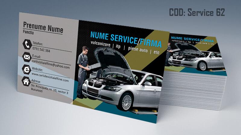 Carti de vizita service auto model cod 62 CDVi