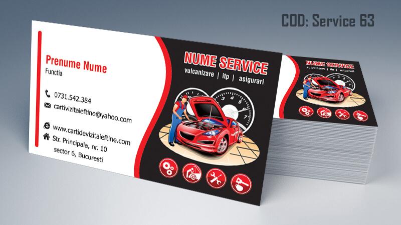 Carti de vizita service auto model cod 63 CDVi