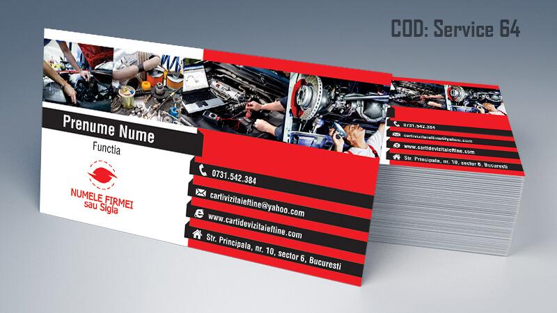 Carti de vizita service auto model cod 64 CDVi