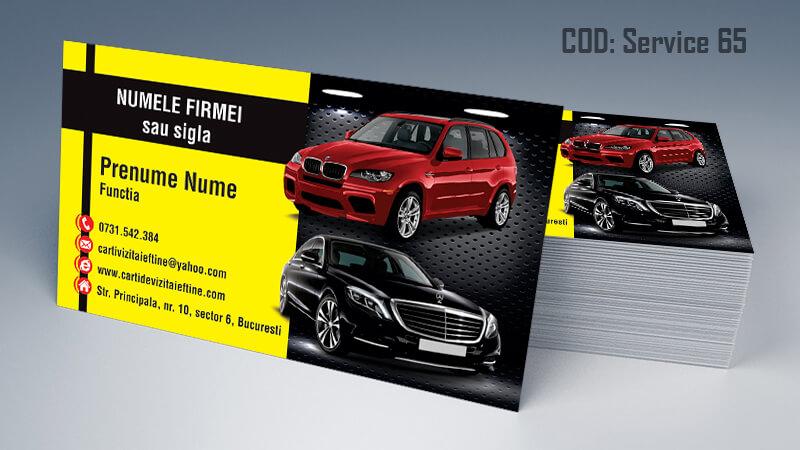 Carti de vizita service auto model cod 65 CDVi