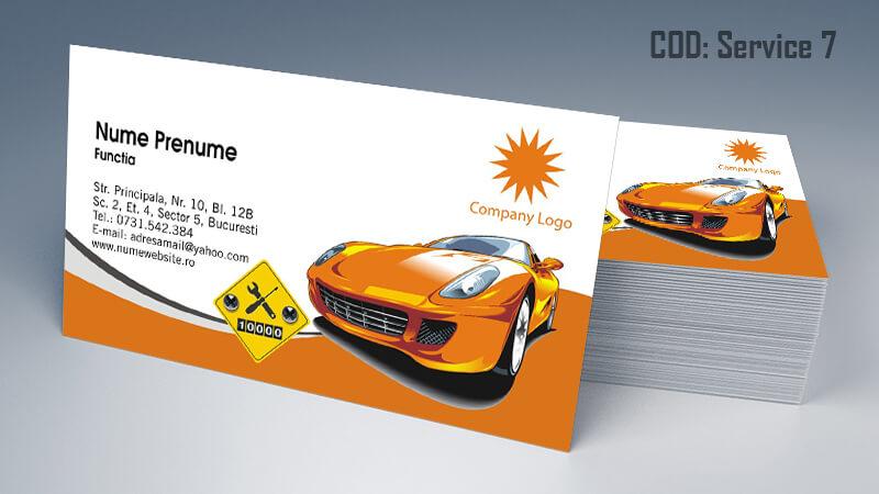 Carti de vizita service auto model cod 7 CDVi