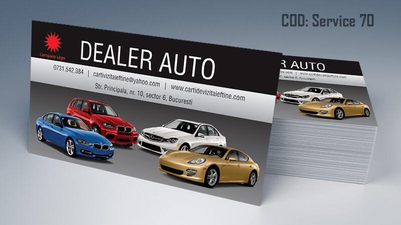 Carti de vizita service auto model cod 70 CDVi